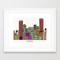 miami Framed Art Prints featuring Miami by bri.buckley
