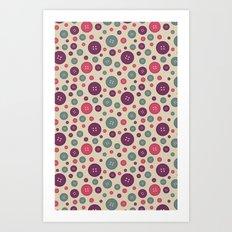 I Heart Patterns #001 Art Print