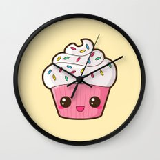 Happy Cupcake Wall Clock