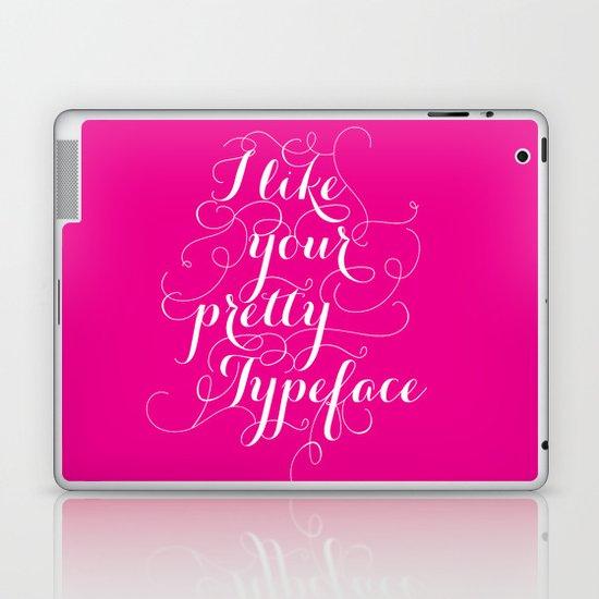 Pretty Typeface. Laptop & iPad Skin