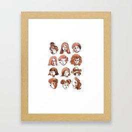girl face Framed Art Print