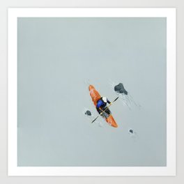 Solitude- Kayaker Art Print