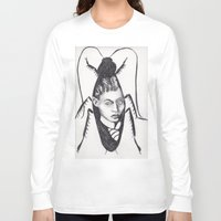 kafka Long Sleeve T-shirts featuring Franz Kafka--Author Portrait Metamorphosis by Wicked Ink