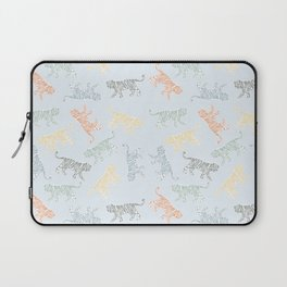 Roaring tigers and panthers in colorful print Laptop Sleeve