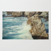big sur Area & Throw Rugs featuring Big Sur - Embrace me by Jenndalyn