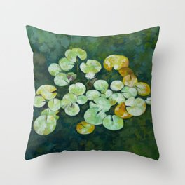 Tranquil lily pond Throw Pillow