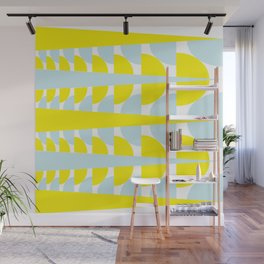Yellow & Blue Wall Mural