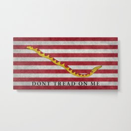 First Naval Jack flag of the US in vintage textures Metal Print