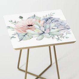 Pretty Succulents by Nature Magick Side Table