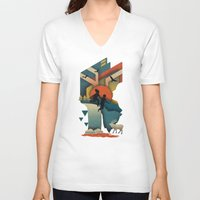 50s V-neck T-shirts featuring Jump In by The Child