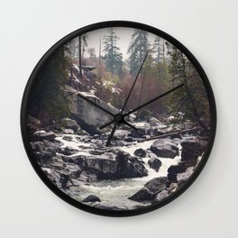 Morning Mountain Escape - Nature Photography Wall Clock