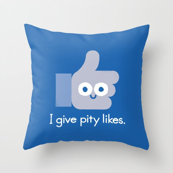 No Comment Throw Pillow