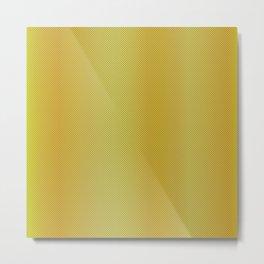 Gold Bright Metallic Carbon Fiber Pattern Metal Print