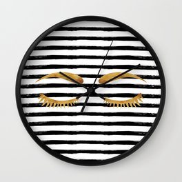 Eyes & Stripes Wall Clock