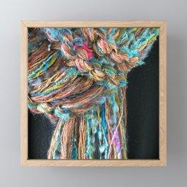 Knitter 7: Fiber is Good for You Framed Mini Art Print