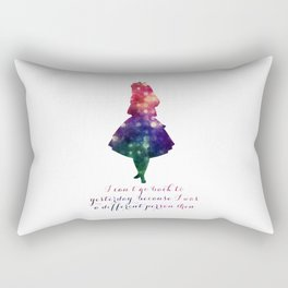 Alice can't go back to yesterday Rectangular Pillow