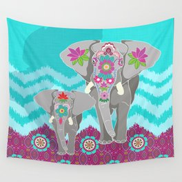 Elephant Festival Wall Tapestry