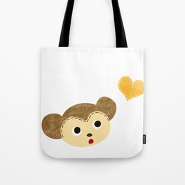 Monkey Baby with Heart Tote Bag