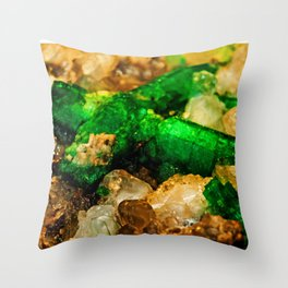 EMERALDS Throw Pillow