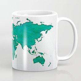 Green World Map 01 Coffee Mug