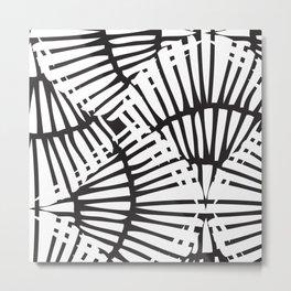 Basketweave-Ink Metal Print