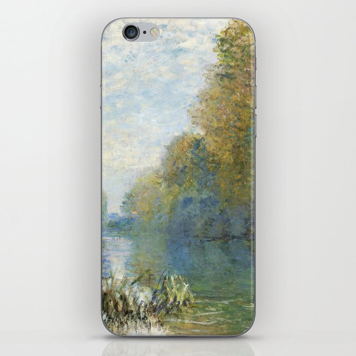 The Banks of The Seine in Autumn by Claude Monet iPhone Skin