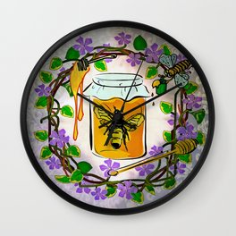 I Live In A Jar Of Honey & Ooze Sweetness Wall Clock