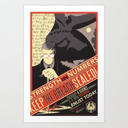 Pacific Rim: Keep The Breach Sealed Art Print