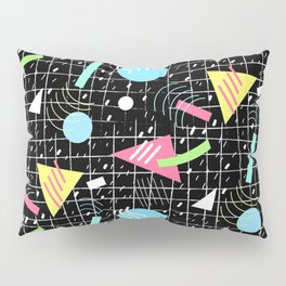 Memphis Style Vibes (Dark) Pillow Sham