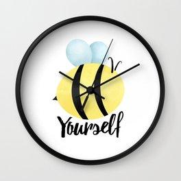 Bee Yourself Wall Clock
