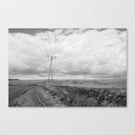 FARMLAND - BLACK & WHITE Canvas Print