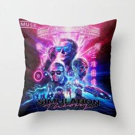 muse simulation theory album tour 2019 maupulang Throw Pillow