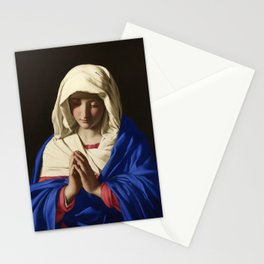 The Virgin in Prayer by Giovanni Sassoferrato (c. 1645) Stationery Cards