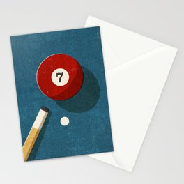 BILLIARDS / Ball 7 Stationery Cards