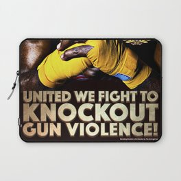United We Fight to Knockout Gun Violence Laptop Sleeve