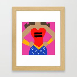Equality - Latina Women's Rights Framed Art Print