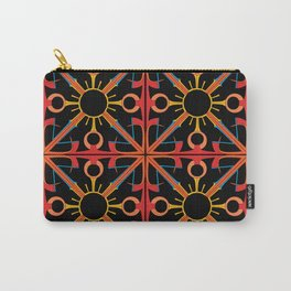 Peace is Warm Tiled Carry-All Pouch