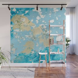 Gold Abstract Modern Painting Wall Mural