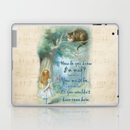 Colorful Alice In Wonderland Quote - How Do You Know I'm Mad Laptop & iPad Skin