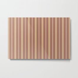 Cavern Clay SW 7701 and Accent Colors Thick and Thin Vertical Lines Bold Stripes 1 Metal Print