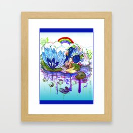 The blue lily water Framed Art Print