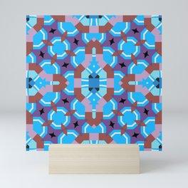blue sleep Mini Art Print