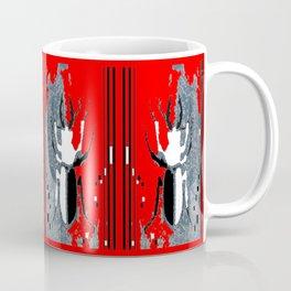 Staghorn Beetle in Red Coffee Mug