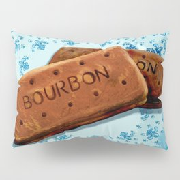 Bourbon biscuits on a plate for tea time Pillow Sham