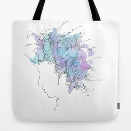 Bob Dylan/Watercolor Tote Bag