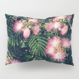 Mimosa Tree Floral Pattern | Photography | Tropical | Pink aesthetic Pillow Sham