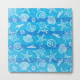 Crystal Blue Sea Metal Print