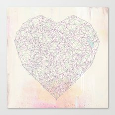 Double Heart Weave (alternate) Canvas Print