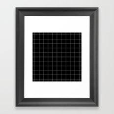 Black Grid /// www.pencilmeinstationery.com Framed Art Print