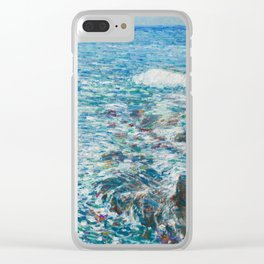 Surf, Isles of Shoals by Childe Hassam Clear iPhone Case